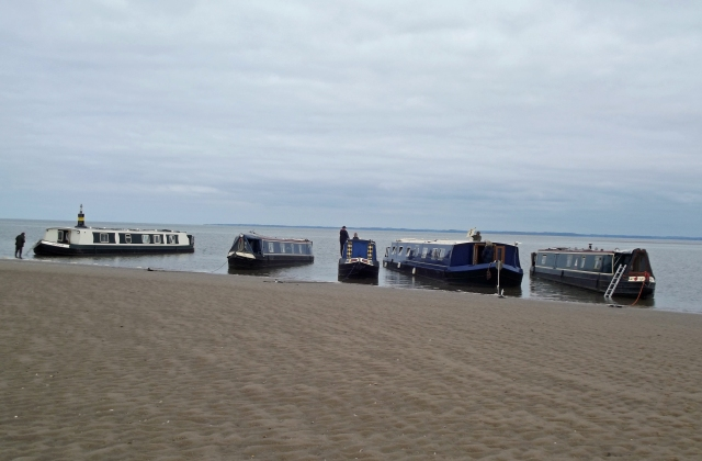 The boats happily nestling on the sand - one of my favourite bits of the whole incredible trip