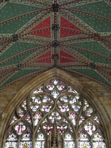 Painted ceiling above the high altar in St Botolphs Church