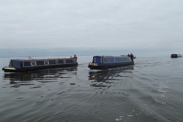 The flotilla in calm seas in The Wash