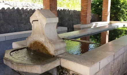 Lavoir where the villagers used to congregate to do their washing