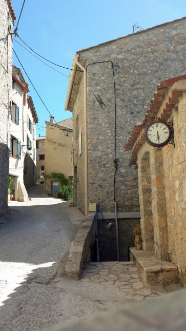 Street in the oldest part of Claviers