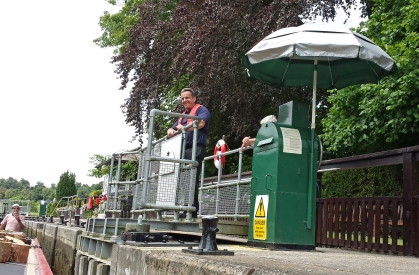 All the lock-keepers we've met so far have been both cheerful and helpful